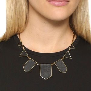 House of Harlow 1960 black leather necklace